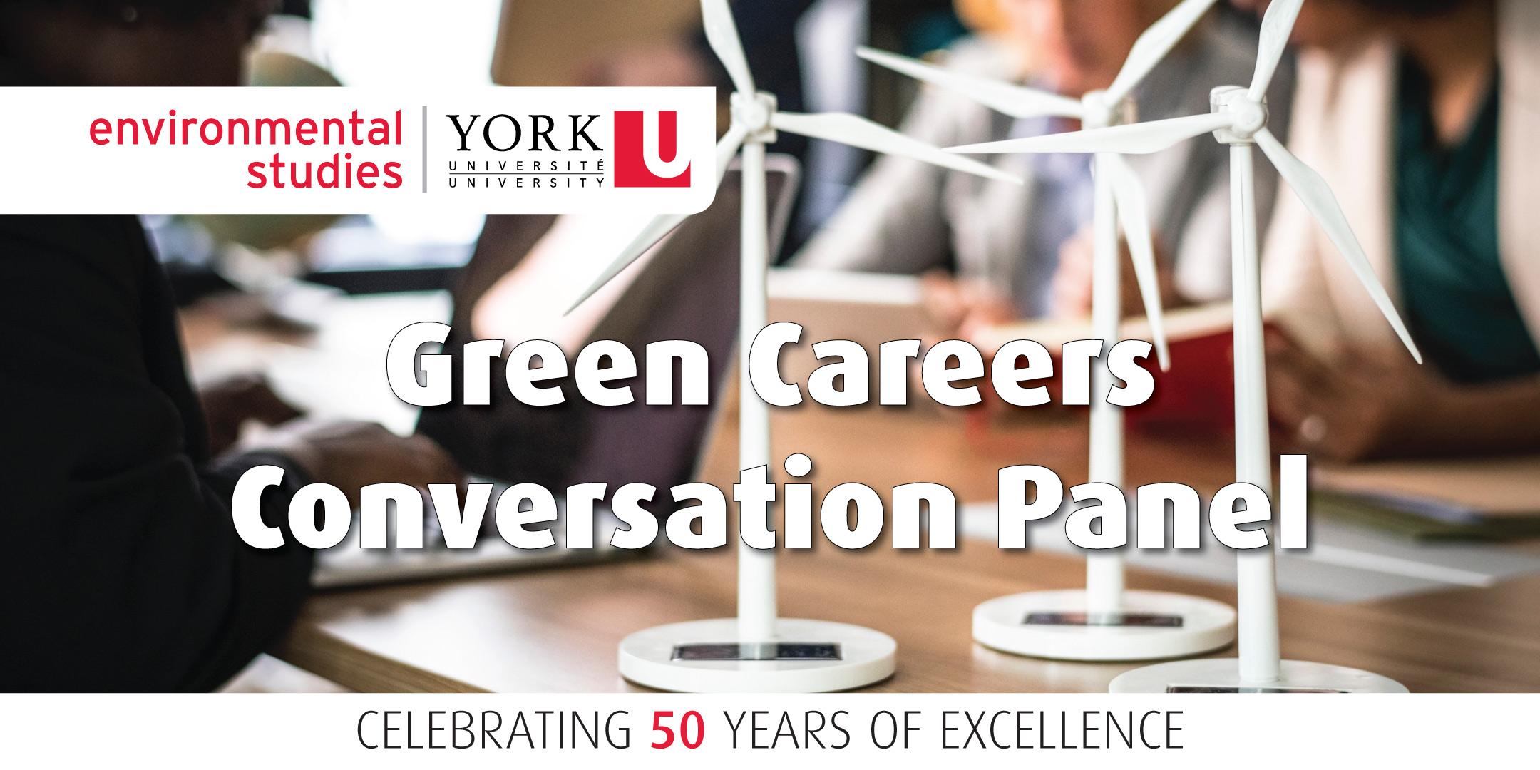 Green Careers Conversation Panel